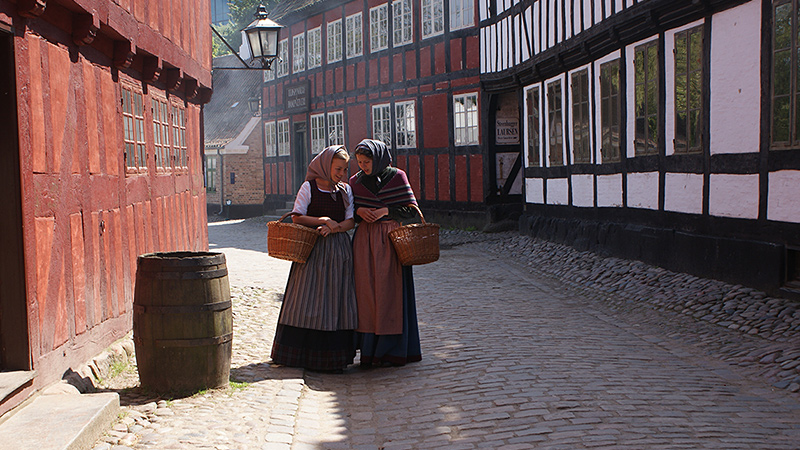 Experience life before 1900s at Den Gamle By