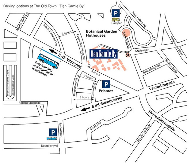 Den Gamle By - bus parking