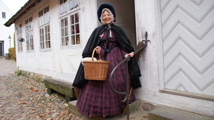 Den Gamle By Living History - the Vicar's widow