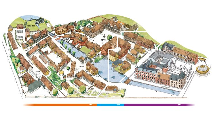 Map of Den Gamle By