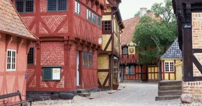 Den Gamle By - old Danish market town from before the 1900s