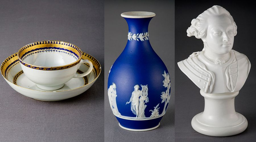 Delftware and porcelain from the 1600s - 1800s