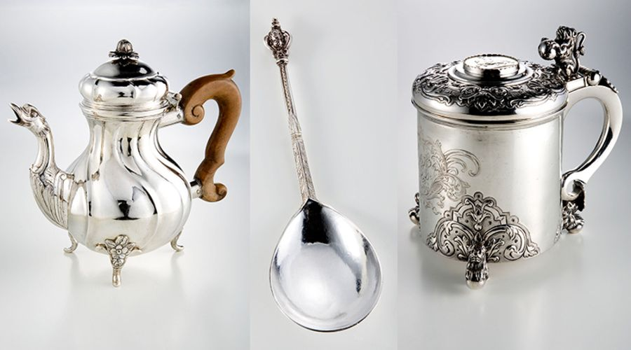 800 silverware objects on show