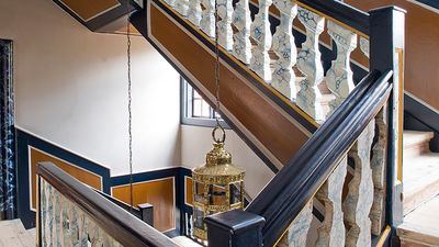 Den Gamle By - Baroque staircase at the Mintmaster's Mansion