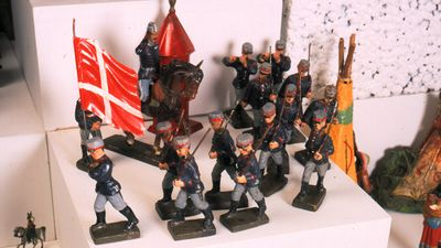 Den Gamle By - tin soldiers at the Toy Museum
